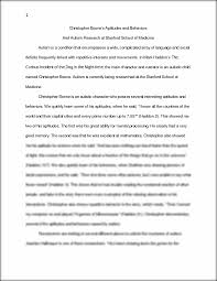 christopher boone s aptitudes and behaviors essay christopher christopher boone s aptitudes and behaviors essay 1 christopher boone s aptitudes and behaviors and autism research at stanford school of medicine