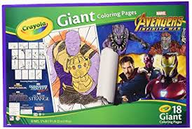 Amazoncom Crayola Avengers Infinity War Giant Coloring Pages