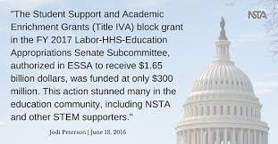 Essa And Nclb Comparison Chart Nsta Legislative Update Senate Passes Bill To Fund Fy2017