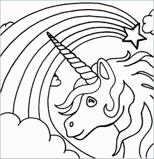 Easy Coloring Pages Unicorn With Coloring Pages For Kids Girls