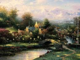 thomas kinkade lamplight village painting best paintings for