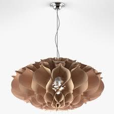 paper chandelier 3d model max fbx 1