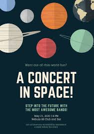 Concert Poster Design Planet Illustrations Concert Poster Templates By Canva