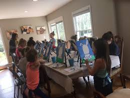 kids painting party at home nassau county ny