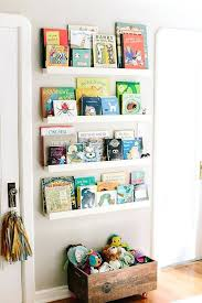 wall shelves kid room ledges for holding books space saving kids rooms storage ideas