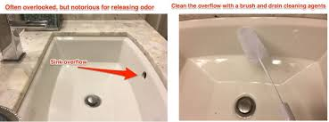 sink overflow underside of the garbage disposal rubber guard