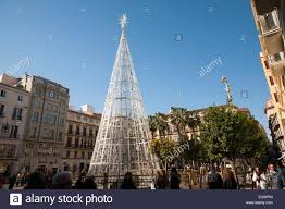 Decorations In Spain Christmas Tree Decorations In Plaza De Constitucion Malaga Spain