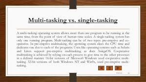 itt project on types of operating system multi tasking