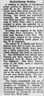 Sherrod Fleming Wedding - Newspapers.com