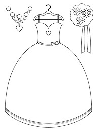 Small Picture Bridesmaid Dress and Accessories Free Printable Coloring Pages