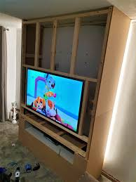 led tv wall a step by step