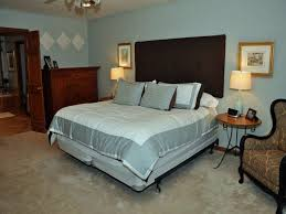 Bedroom:Appealing Basement Master Bedroom Ideas With High Headboard And  Grey White Bedding Plus Wingback
