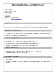 Famous Sample Resume Format For Freshers Bcom Contemporary Entry