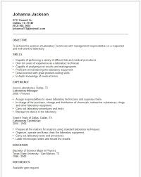 Lab Technician Resume Objective Veterinary Technician Resume