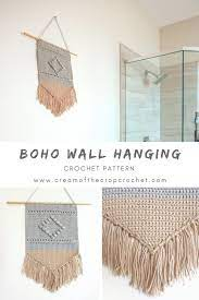 Here you will find crochet home accents from crochet blankets to crochet wall hanging patterns, crochet centerpieces to crochet basket, crochet washcloths to crochet coasters and so. Boho Wall Hanging Crochet Pattern Cream Of The Crop Crochet