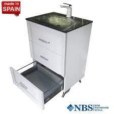 Socimobel 24 Inch Cloe Bathroom Vanity Swarovski Handels Glass Sink