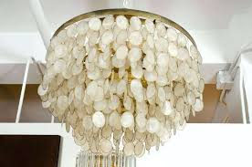 capiz shell chandelier shell chandelier shell chandelier ideas home shell chandelier diy wax paper capiz shell