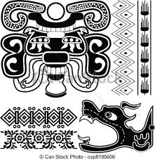 Mayan Patterns Interesting Mayan Ornaments With Dragon Ancient American Patterns With