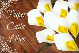 Paper Calla Lily Template Tutorial Diy Paper Flower Template