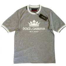Details About Men S Dolce Gabbana Grey Milano Crown T Shirt With Tags D G Shirt Size 54 3xl