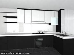 beautiful ideas modular kitchen designs black and white true in style on home design