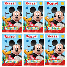 Invitaciones Fiesta 6 Invitaciones Fiesta Mickey Mouse Clicalia