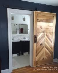 How To how to build door pics : Remodelaholic | How to Build a Wood Chevron Barn Door