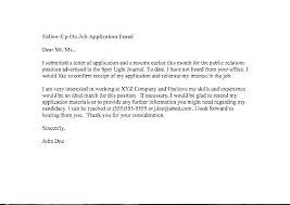 Job Interview Follow Up Email Resume Follow Up Email Example Letter Sample Job Interview