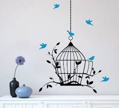 Contemporary Modern Bird Cage Wall Art Next Project Living Room Design Decal  Sticker Complement Contemporary Smooth Flat Design Ideas