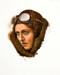 Amy Johnson Painting by Karen Wilson