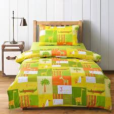 lime green yellow and orange jungle animal toucan zebra crocodile giraffe print kids girls boys 100 cotton twin full size bedding sets