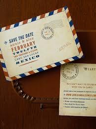Photo Invitation Postcards Carte Postale Vintage Airmail Save The Date Postcard
