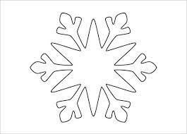 Blank Snowflake Template Free Snowflake Templates 17 Free Printable Sample