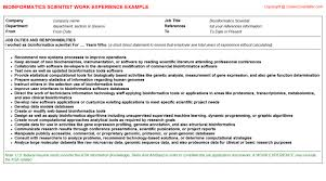 Bioinformatics Resume Sample Free Downloads Bioinformatics Scientist Career Docs 50