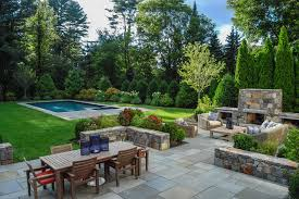 dover ma outdoor living beautifully defined plentiful dining space fireside gathering