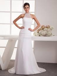 Pancha - Neckholder A-Linie Chiffon Brautkleid mit Perlenstickerei