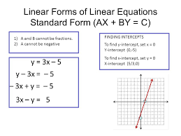 recap of slope 9 linear forms of linear equations