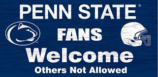 penn state nittany lions wood sign fans welcome