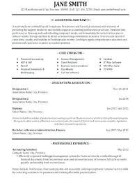 Sample Accounts Payable Resume Accounts Payable Resume Templates