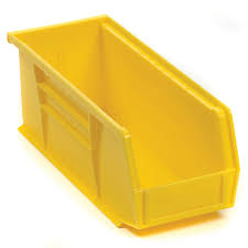akro mils 30224 plastic storage stacking hanging akro bin 4 1 8 w x 10 7 8 d x 4 h yellow lot of 12 walmart