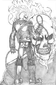 ghost rider drawing. ghost rider pencil sketch by thecarloszayas on deviantart drawing