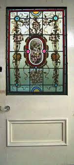 antique stained glass window door