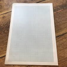 Vintage Graph Paper Large Vintage Paper Pages With Blue Grid Pattern For Scrapbooks Junk Journals Mixed Media Collage And Altered Art