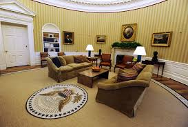 oval office wallpaper. Newly Redecorated Oval OfficeThe Office Of The White House With New Carpet, Couches And Wallpaper, Wallpaper