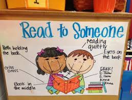 Read To Someone Anchor Chart In Kindergarten After Going