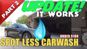 spot less car wash system at home part 2 the results under 100