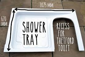 fitting the thetford c200 shower tray in my van