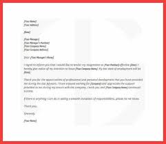 resignation letter for work employee resignation letter with notice free pdf template