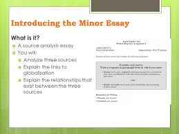 essay writing the minor essay introducing the minor essay  on  3 introducing