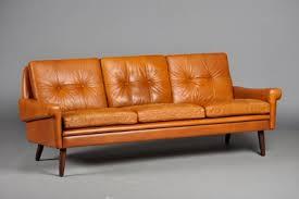 scandinavian leather furniture. Tan Leather Sofa 090 Scandinavian Furniture